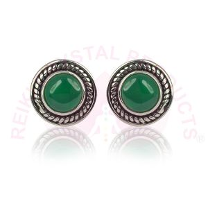 Green Onyx Gemstone Studs/Earrings 92.5 Sterling Silver Stud/Earring for Women Girls