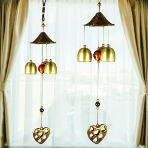 Fengshui Heart Wind Chimes Home Positive Energy