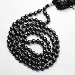 Hematite 108 Round Bead 6mm Mala/Necklace