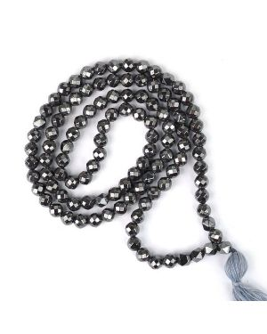 Hematite Faceted 6 mm 108 Bead Mala