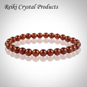 Hessonite 6 mm Round Bead Bracelet