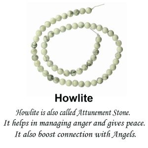 Howlite Loose Beads Crystal Beads 6 mm Beads Round Stone Beads
