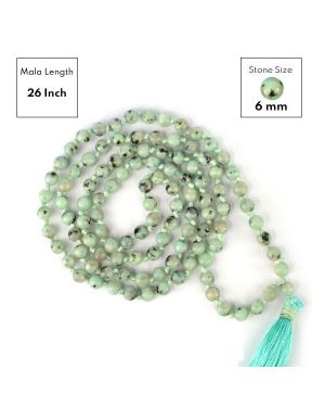 Kiwi Moonstone 6 mm 108 Round Bead Mala