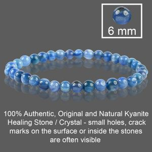 Kyanite 6 mm Round Bead Bracelet