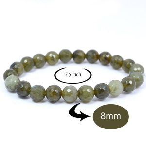 Labradolite 8 mm Faceted  Bracelet