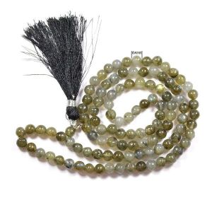 Labradolite 6 mm Round Beads Mala & Necklace ( 108 Beads, 26 Inch  Approx)