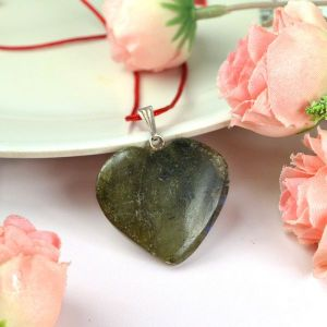 Labradorite Heart Shape Pendant - Size 25-30 mm approx