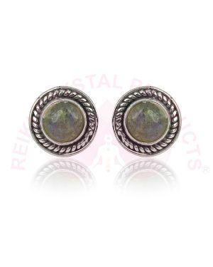Labradorite Gemstone Studs/Earrings 92.5 Sterling Silver Stud/Earring for Women Girls