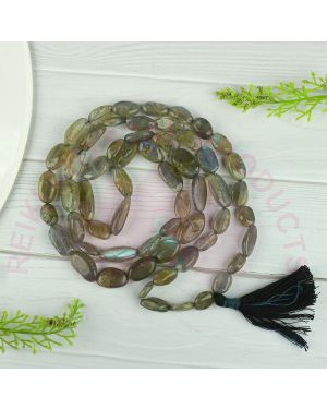 Labradorite Tumble Bead Crystal Stone Mala/Necklace
