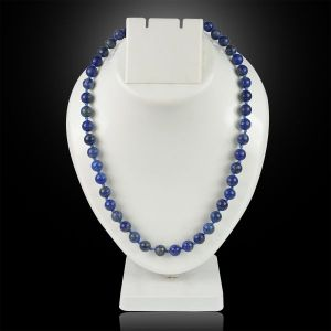 Lapis Lazuli  8 mm Round Bead Mala & Necklace (108 Beads & 32 Inch Approx)