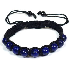 Lapis Lazuli Bracelet 8mm Beads Thread Bracelet