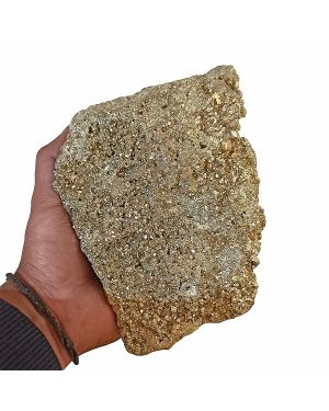 Natural Pyrite Raw/Rough Cluster/Peru Pyrite for Healing 2.8 Kg Approx (Color : Golden)