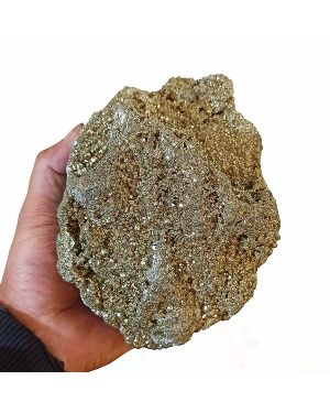 Natural Pyrite Raw/Rough Cluster/Peru Pyrite  3.5 Kg Approx (Color : Golden)