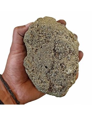 Natural Pyrite Raw/Rough Cluster/Peru Pyrite for Healing 1.6 Kg Approx (Color : Golden)