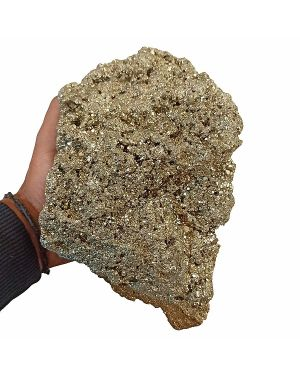 Natural Pyrite Raw/Rough Cluster/Peru Pyrite 4.5 Kg Approx (Color : Golden)