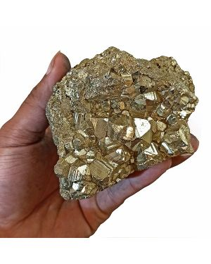 Natural AAA Pyrite Raw/Rough Cluster/Peru 600 Gram Approx (Color : Golden)