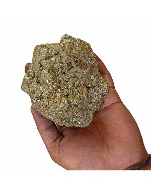 Natural AAA Pyrite Raw/Rough Cluster/Peru 900 Gram Approx (Color : Golden)
