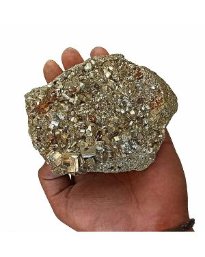 atural AAA Pyrite Raw/Rough Cluster/Peru 1 Kg Approx (Color : Golden)