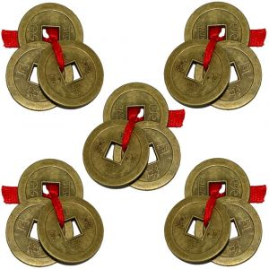 Feng Shui Set of 15 Lucky Coins For Wealth