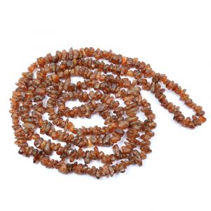 Hesonite Chip Mala/Necklace/ GOMED