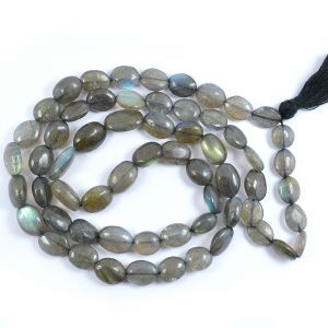 Labradolite Oval bead  Mala/Necklace