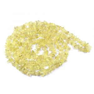 Lemon Quartz Chip Mala / Necklace