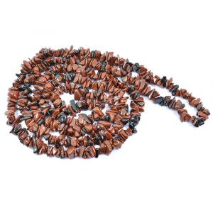 Mahogany Obsidia  Chip Mala / Necklace