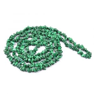 Malachite Chip Mala/Necklace