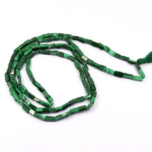 Malachite Box bead Mala / Necklace