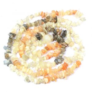 Moonstone / Moonstone multi / Rainbow Bead Chip Mala/Necklace