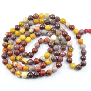 Mukite Jasper 8 mm Round Bead Mala & Necklace (108 Beads & 32 Inch Approx)