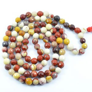 Mukite Jasper DC 108 Round Bead 8 MM  Mala/Necklace