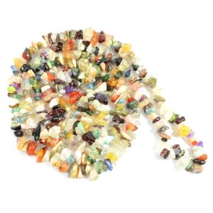 Multi Crystal Chip Mala/Necklace