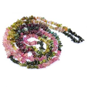 Multi Tourmaline Chip Mala / Necklace