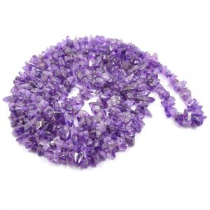 Amethyst Chip Mala / Necklace