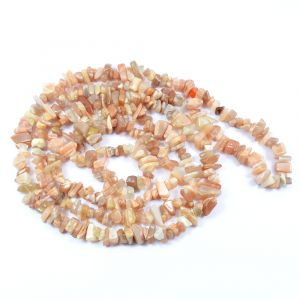 Peach Moonstone Chip Mala / Necklace