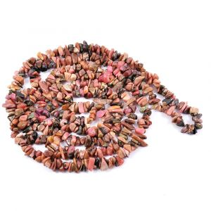 Rodonite Chip Mala/Necklace