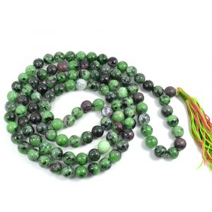Ruby Zoisite 8 mm Round Bead Mala & Necklace (108 Beads & 32 Inch Approx)
