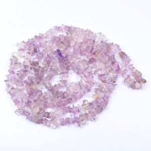 Amethyst Pink Chip Mala / Necklace