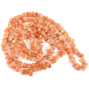 Sunstone Chip Mala / Necklace