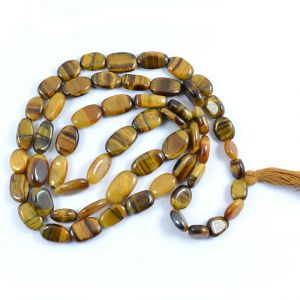 Tiger Eye Oval Mala/Necklace