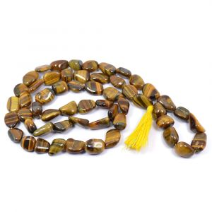 Tiger Eye Tumbled bead Mala / Necklace