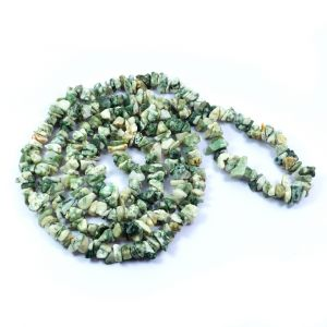 Tree Agate Chip Mala / Necklace