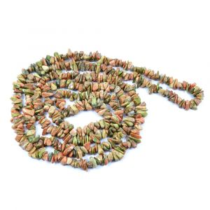 Unakite Chip Mala / Necklace