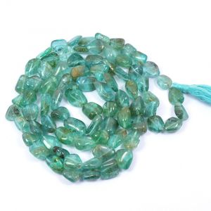 Green Apatite Tumble Mala / Necklace