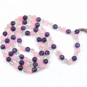 Mind, Body, Soul DC 108 Round Bead 8 MM  Mala/Necklace