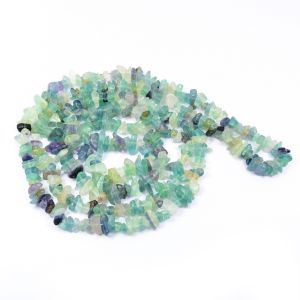 Green Fluorite Chip Mala / Necklace