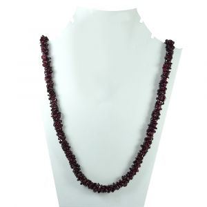 Garnet Chip Mala / Necklace
