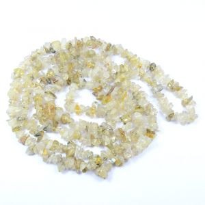Golden Rutile Chip Mala / Necklace