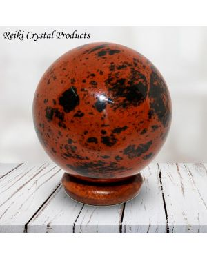 mahogany Obsidian Ball / Sphere for Reiki Healing / Grid and Vastu Correction